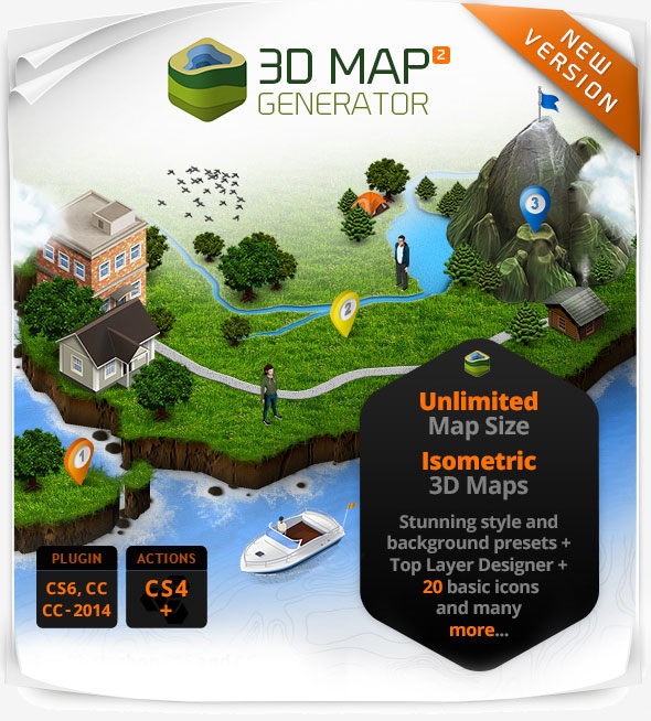 www 3d-map-generator com | Versions