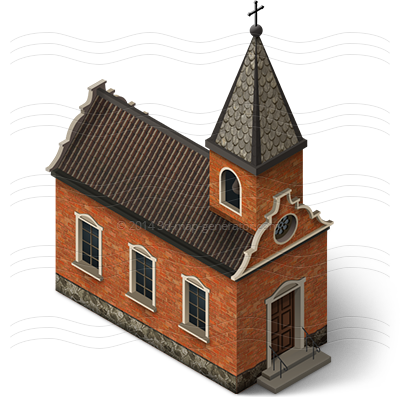 church isometric icon