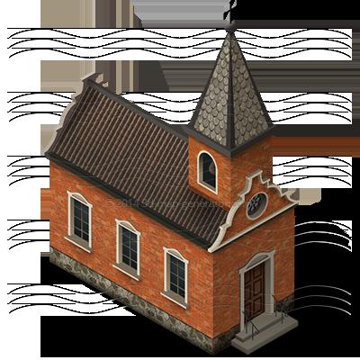 church isometric icon