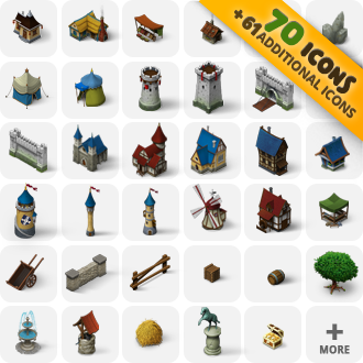 isometric_game_icons_Medieval_Buildings