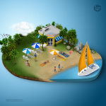 3d_map_people_beach
