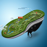 Runner Map - 3D Map - Shoe