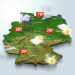 Germany - 3D weather map