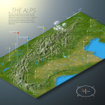 The Alps in Europe - 3D Map