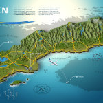 infographic sweden 3d map