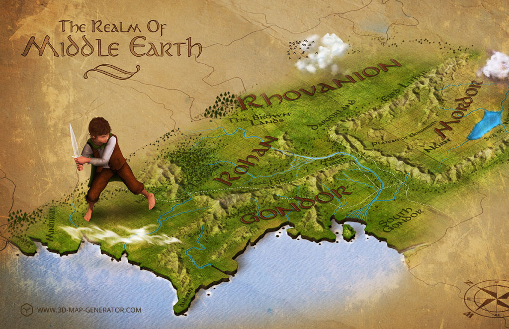 3dmapgenerator – Lord of the Rings Map Middle Earth