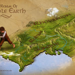 lord of the rings - 3d map middle earth