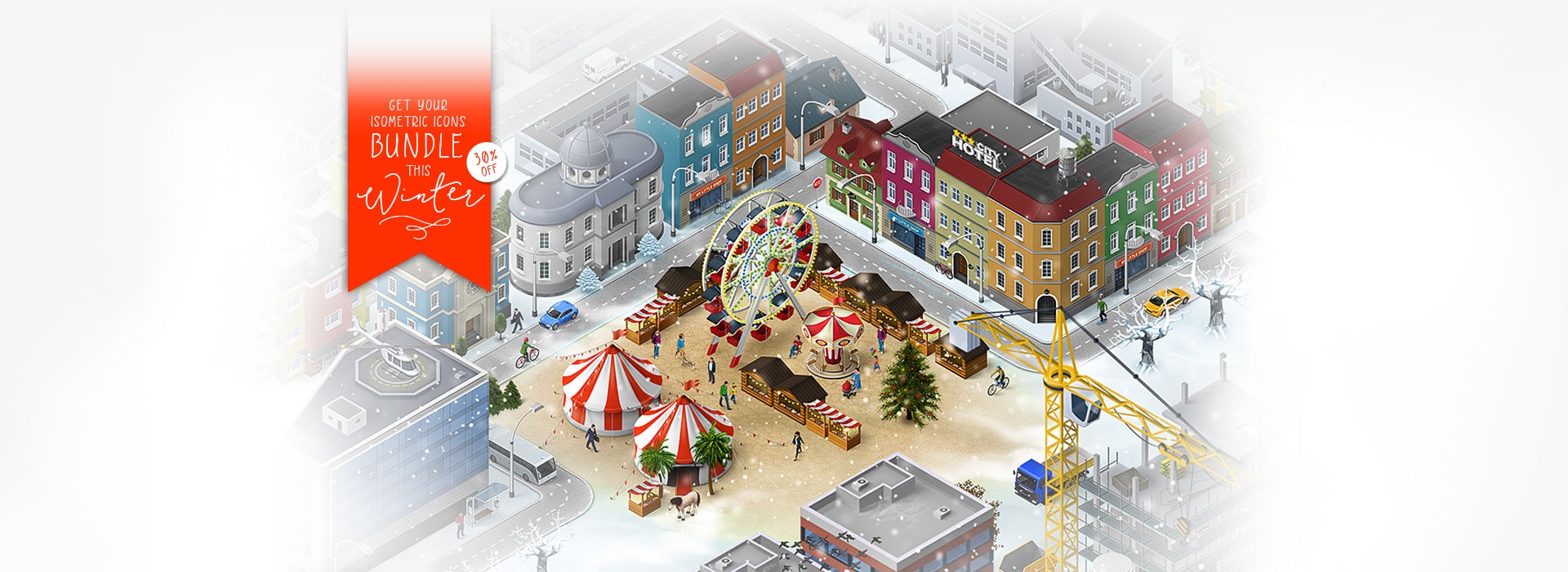 winter christmas market map