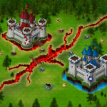 Game Map Example created with isometric medieval buildings icons