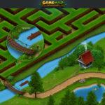 labyrinth with plank bridge