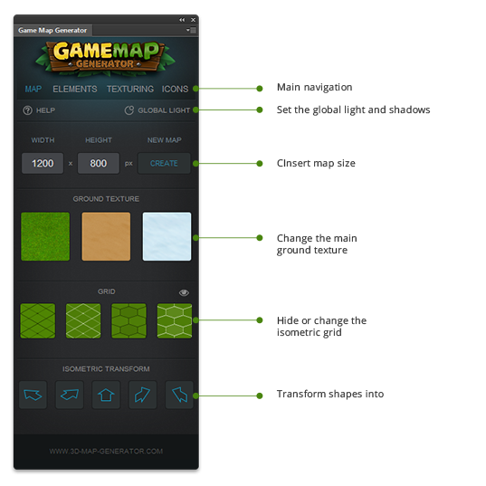 panel overview gmg maps tools