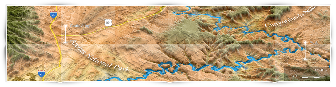 utah - grand canyon national park 3d terrain