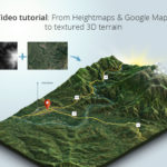 From-Heightmaps-and-Google-Maps-to-textured-3D-terrain---video-tutorial-result