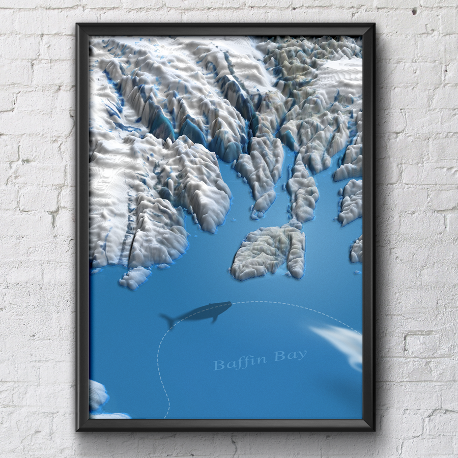 baffin bay from heightmap