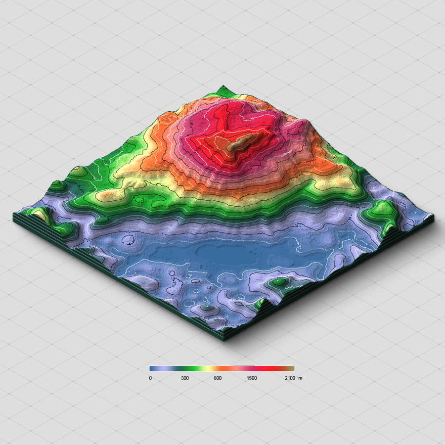color height map