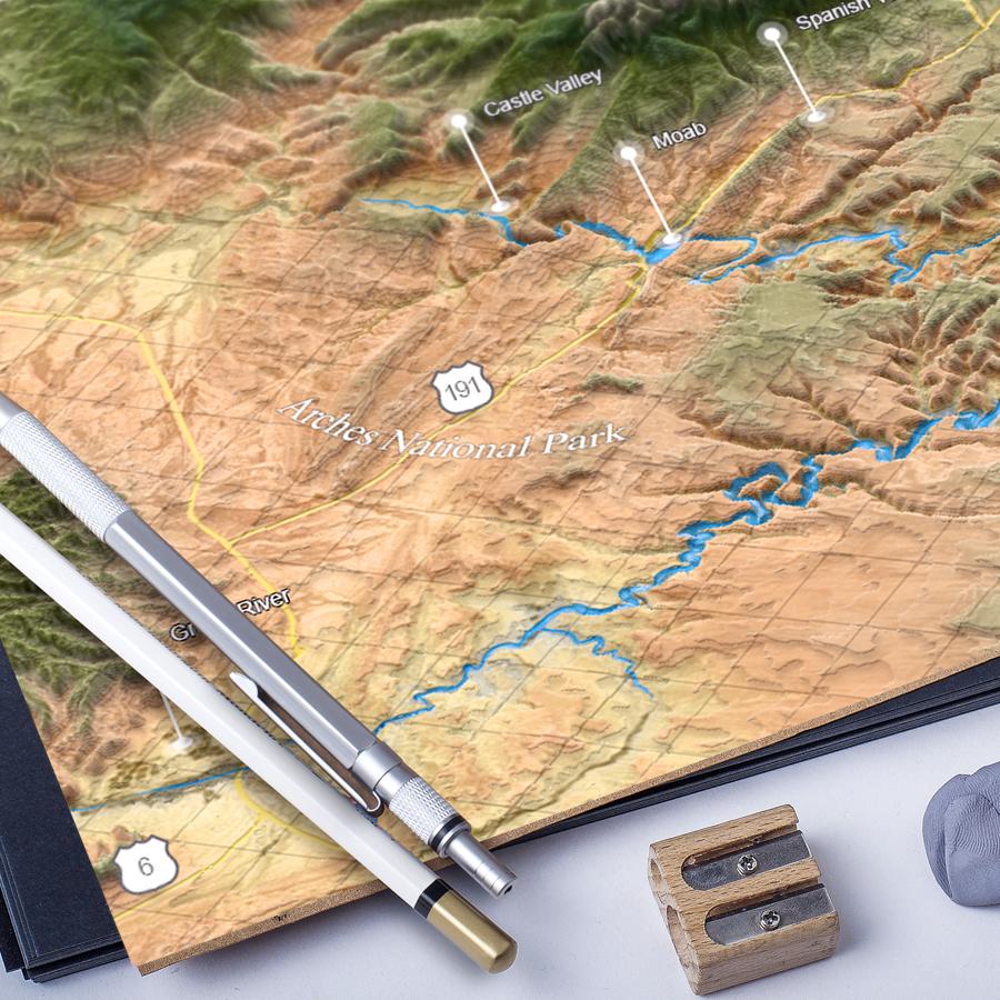 U.S. state road map Utah