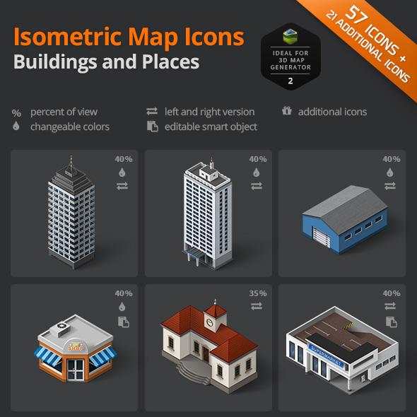 download building places icon sets