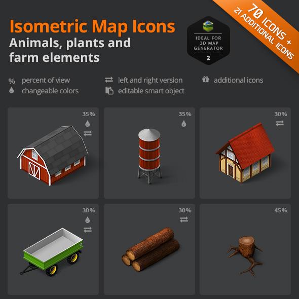 download animals plants farm icon sets