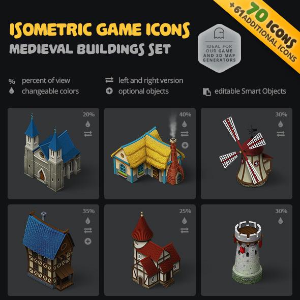 download medivalbuilding icon set